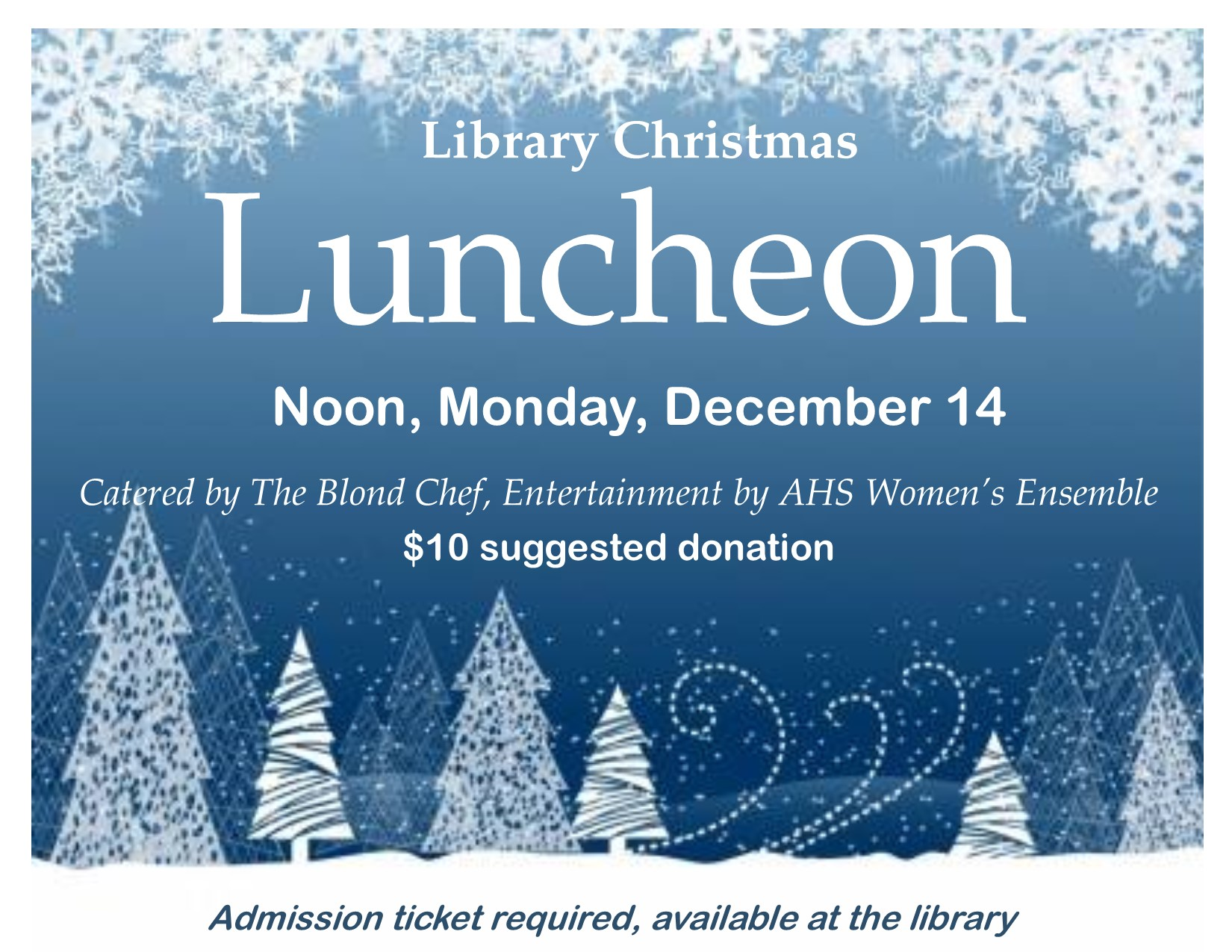 2015 Christmas luncheon poster