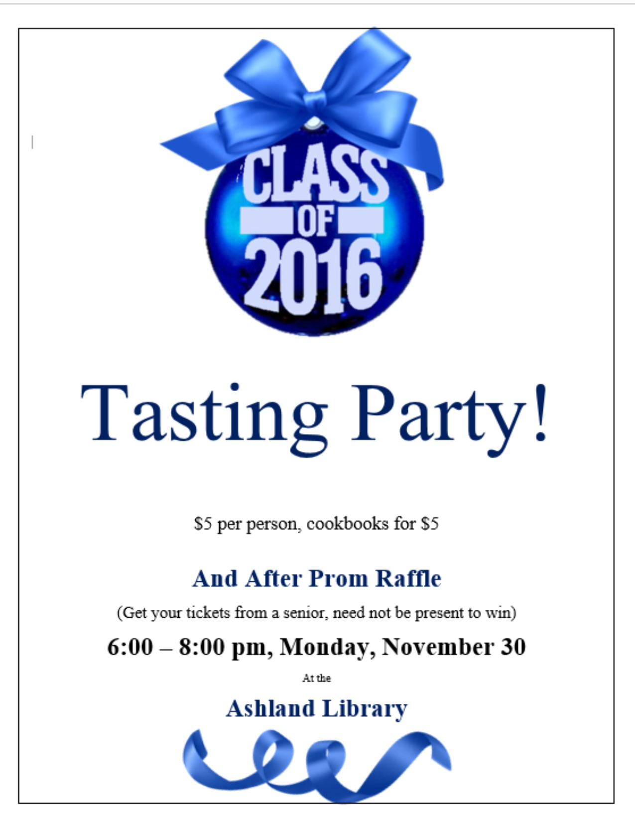 tasting party 2015